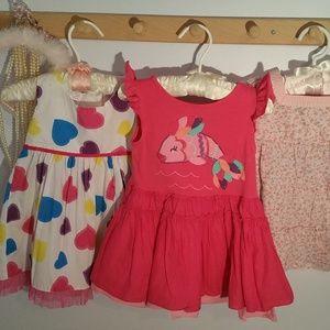 Set of 3 Size 12 Months Summer Cotton Dresses